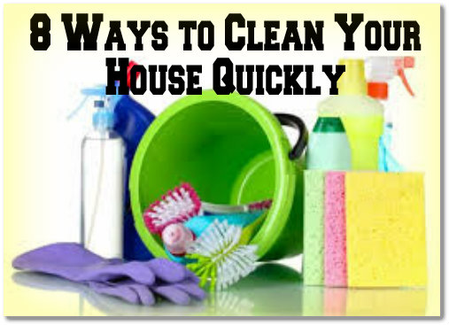 Tips for quick cleaning